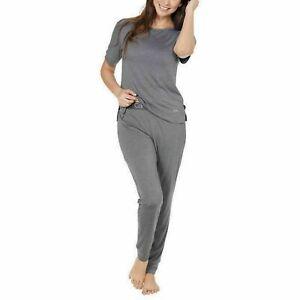 Calvin Klein Underwear Womens T-Shirt Jogger Lounge Pajama Set Ashford Gray L