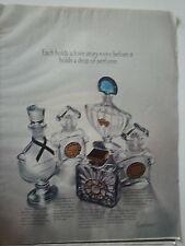 1969 Guerlain Vol De Nuit Chant d Aromes Mitsouko L Heure Bleu Perfume Bottle Ad