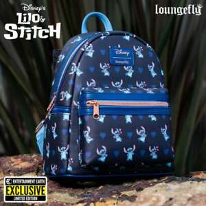 Disney Lilo & Stitch Mini Backpack Hearts Valentines Day Loungefly IN STOCK