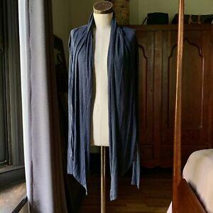 CABI Women's Blue Hooded Cardigan Wrap Top MEDIUM