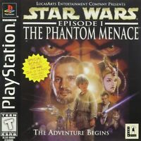 Star Wars Episode I: The Phantom Menace (Sony PS1 Game) *NO FRONT COVER*