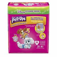 HUGGIES Pull-Ups Learning Designs Girls' Training Pants Size 3T-4T, 22 count