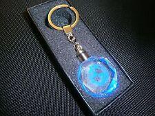 BMW CAR MOTORCYCLE   Crystal LASER BLUE LED Keyring in Gift Box