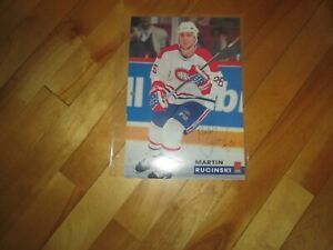 MONTREAL CANADIENS POSTER  COLOR 7 BY 10 7 JOURS MARTIN EUCINSKY 1995-1996