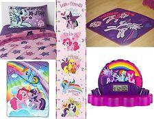 new my little pony twin sheet set throw area rug clock radio u0026 growth chart 7 pc