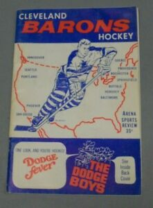 Cleveland Barons, 1967 - 86, Hockey Program vs Baltimore Clippers, Decent