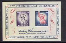 1956 U.S. FIPEX 5th Philatelic Expo S/S   Sc#1075  MINT/NH/OG  Pristine!