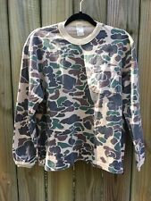 Vintage Duxbak Kids Camo Shirt Size Large