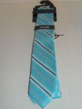 APT.9- MEN -  NECKTIE AND TIE BAR CLIP SET. AQUA SAMMY S. RET.@ $34.00 (LR-1-11)