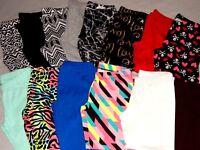 NEW Cotton Spandex Capri Pants Womens Yoga Crop Leggings Juniors S M L XL