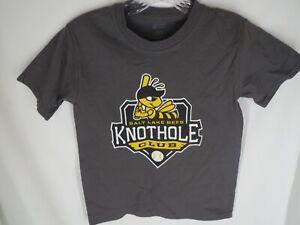 Salt Lake City Bees Knothold Club Youth Size S/M Gray Short Sleeve Shirt