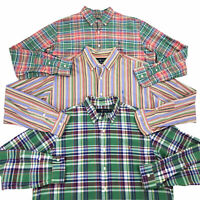 Lot of 3 Men's XL Ralph Lauren Long Sleeve Button Front Collared Shirt Colorful