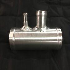 63mm x 105mm Aluminium T Piece For N75 & Vacuum Hose, 22mm Tube & 8mm Barbed