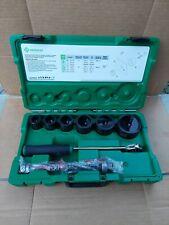 Greenlee 7238sb Slug Buster Knockout Kit With Ratchet Wrench Punch Set