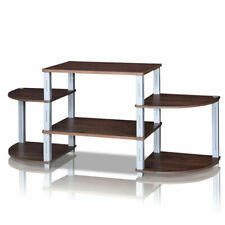 3-Cube Media Entertainment TV Cabinets Flat Screen Stand Storage Organizer Brown