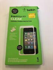 NEW Belkin Exact Align Kit Clear Screen Protector For iPhone 4, 4s