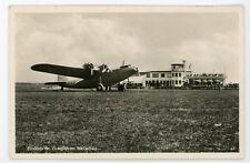 Netherlands Eindhoven Vlieghaven Welschap  vintage  RPPC real photo Postcard