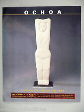 Ochoa Art Gallery Exhibit PRINT AD - 1997 ~~ Motivo Vertical Femenino