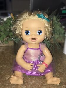 Baby Alive Hasbro 2010 Blonde Hair Doll Talks Eats Goes Potty Works!