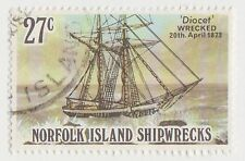 (NKD178) 1982 Norfolk Island 27c ship wrecks F/U