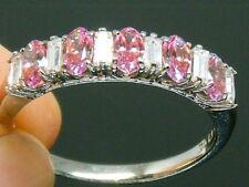 Solid Silver 925   Diamonique Eternity ring size S