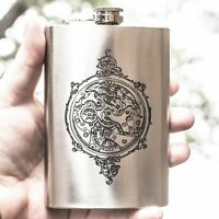 8oz Steampunk Clockworks Flask L1