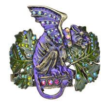 KIRKS FOLLY GARGOYLE GUARDIAN CUFF BRACELET bronzetone