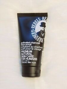 Rebels Refinery Activated Charcoal Face Scrub - 3.38 oz. *NEW* Free Shipping