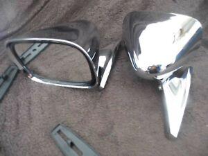 Chrome racing mirrors pair Mazda MX-5 Eunos Miata Kit car