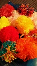 Handmade X-Large Wool Pom Poms (XL approx 10cm) x 16 - many colours available
