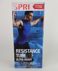 SPRI Resistance Tube Band Ultra Heavy Home Gym Workout Strength Training 60lbs