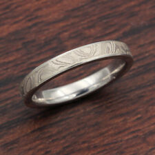 Ladies' Platinum White Mokume Wedding Band by Krikawa, size 4.25