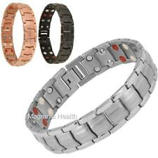 MENS MAGNETIC BIO ENERGY TITANIUM BRACELET 4in1 HEALTH ARTHRITIS PAIN RELIEF