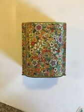 1 Vintage Daher Decorated By Daher Tin Floral Motif Chintz