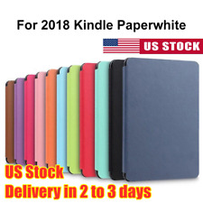 For 2019 New Amazon Kindle Paperwhite 4 Ultra Slim Smart PU Leather Cover Case A
