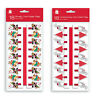 Pack 18 Novelty Christmas Card Holder Pegs Santa Rudolph Reindeer Xmas Tree 2m