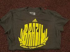 Brazil Brasil Futebol Football Soccer Adidas T-Shirt Ladies  M Medium 50/50