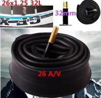 DZ1362* MTB Bicycle Cycle bike 26 Inch Inner Tube 26x1.25 Schrader Valve 32mm