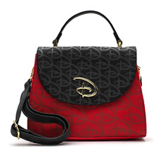 Loungefly Disney Logo Mickey Mouse Inspired Debossed Crossbody Bag WDTB1868