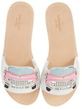 fa94cb4916ffce Kate Spade Isla Cadillac Car Design Motif Slides Leather Size 7 Sandal Shoes