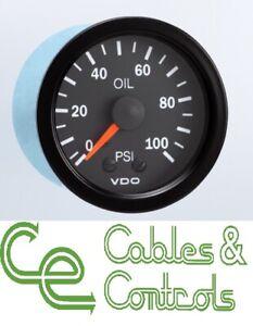 VDO Cockpit Vision Mechanical Pressure Gauge  0 - 100 PSI 52MM 150077027