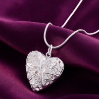 Silver Color Jewelry Charm Women Noble Heart Pendant Necklace Present Gift