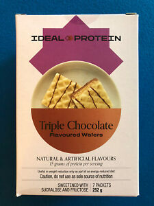 Ideal Protein Triple Chocolate Flavoured Wafers - 7 Packets - EXP 12/31/22