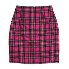Vintage Talbots Wool Pencil Skirt, Pink Multi Plaid, Size 6 EUC