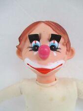 Vintage Rare DAI Made in Japan Rubber Face-Feet Stuffed Plush - Hobo-Clown  5157