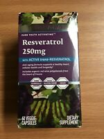 RESVITALE RESVERATROL 250Mg 60 Caps  FACTORY SEALED EXP 05/21