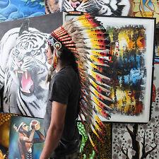 INDIAN HEADDRESS Rasta Chief War bonnet Costume Native American Halloween
