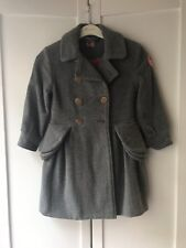 No Added Sugar Girls Grey Wool Coat 4 Years 5 Years