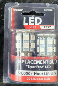 (1) NEW DORMAN 1157R-SMD TAIL TURN SIGNAL BACKUP LIGHT BULBS PACK OF 2 RED
