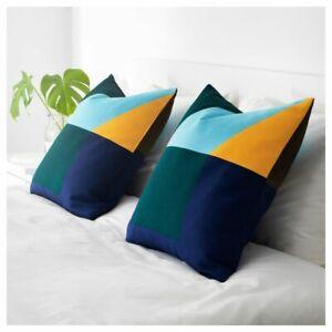 IKEA Majalisa Cushion Cover 50 x 50 cm 100% Cotton Blue green
